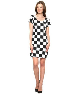 XNY Black and White SHORT DRESS
