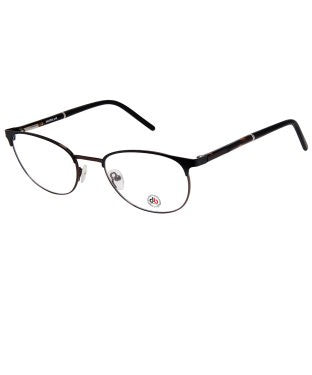 David Blake Matte Black Brown Round Full Rim EyeFrame