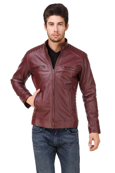Smerize Men's Wolverine Faux Leather Jacket $ 4SME