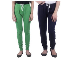 Amihgo Set of Two Women's Churidar Cotton Leggings-Free Size-MAH40021