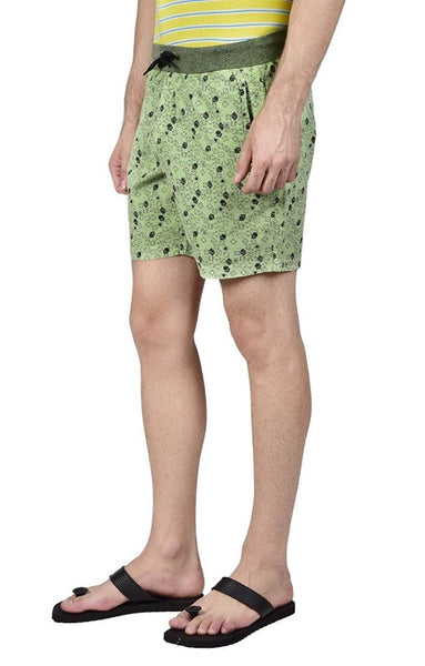 Hammock Men's Dice Printed Boxer Shorts - Green-H19F13D60430