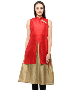 RED COLOR SILK HOMA KURTIS