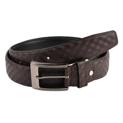 Baluchi's Brown Textured Semi Formal Men's Belt $ BLC_PMBR_5