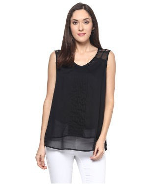 Miway Black Solid Top