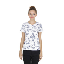 Second Half Fish Print Regular Top-SH0024