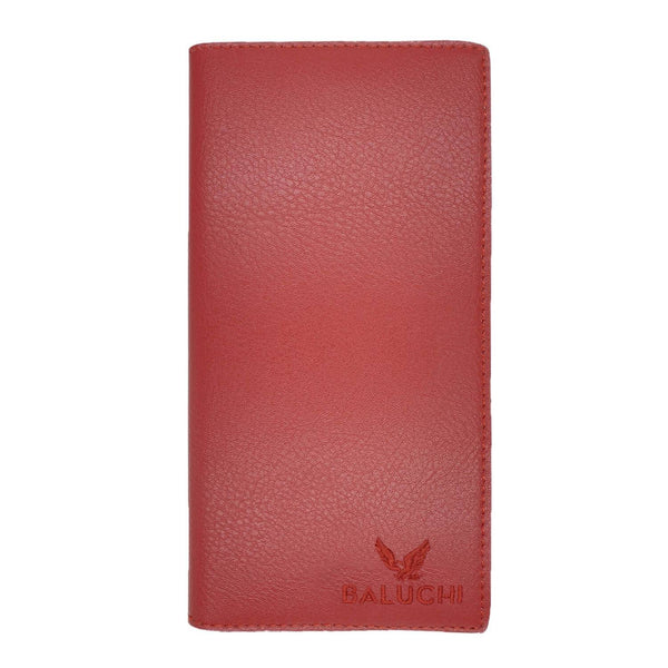 Bauchi Red Textured Long Wallet for Men & Women $ BLC_LNGWLT_RED_01