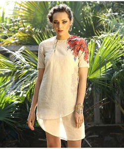 Shashank And Prajwal Cream And Mutli Tunic