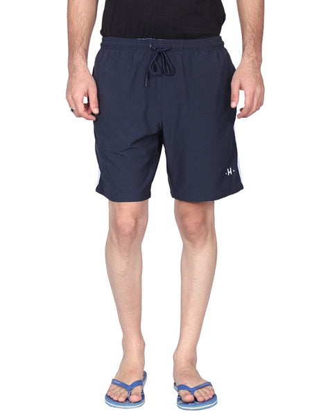 Hammock Solid Mens Sports Shorts - Navy-H20F34J501OS