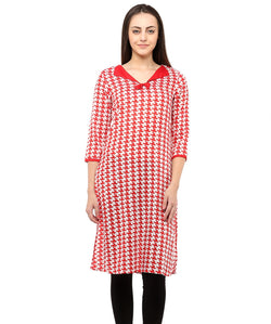 RED COLOR RAYON HOMA KURTIS