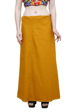 MY TRUST Cotton Mustard Color Saree Petticoats $ PT-24