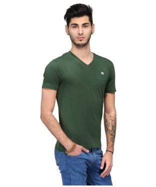Dazzgear Men's Green V Neck MTV-65 T-Shirt
