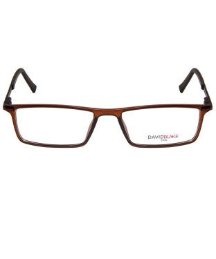 David Blake Matte Brown Rectangular Full Rim EyeFrame