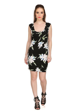 Black Lilly Print Dress $ 2sis246-10
