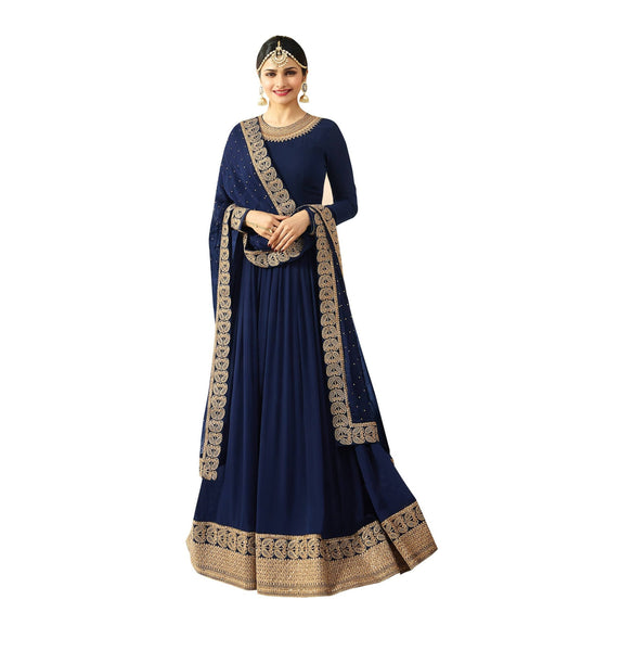 YOYO Fashion  Latest Fancy Semi-stitched Faux Georgette Embroidered Anarkali Salwar Suit Gown$F1215