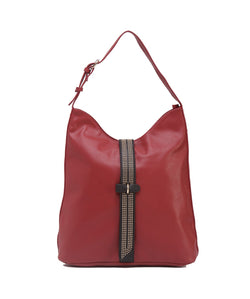 Fiona Trends Maroon PU Shoulder Bag,6604_MAROON