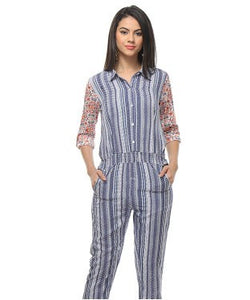 Free Spirit Blue And Multi Jumpsuit