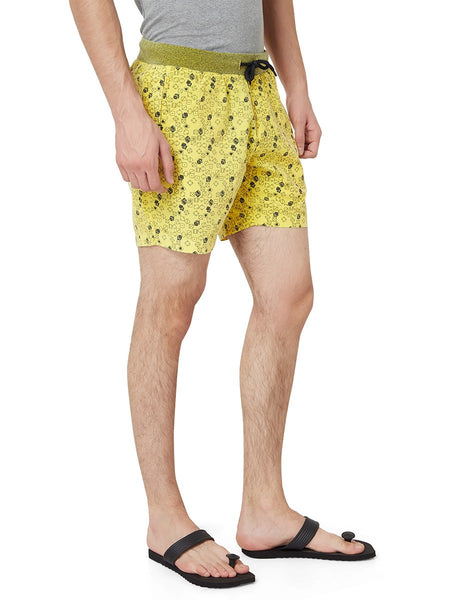 Hammock Men's Dice Printed Boxer Shorts - Yellow-H19F17D60430