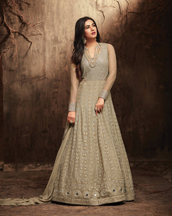YOYO Fashion Georgette Anarkali Semi-Stitched salwar suit $F1300
