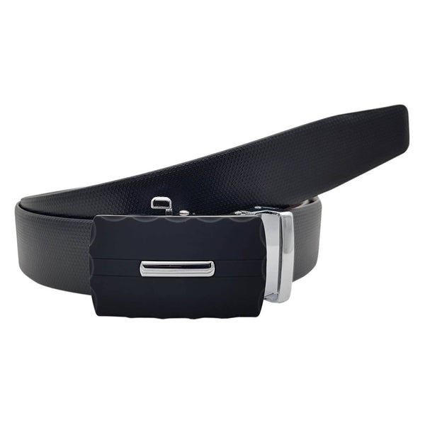 Baluchi's Pentaflor Textured Formal Reversible Leather Belt with Auto lock Buckle $ BLC_LMAUTORV_07