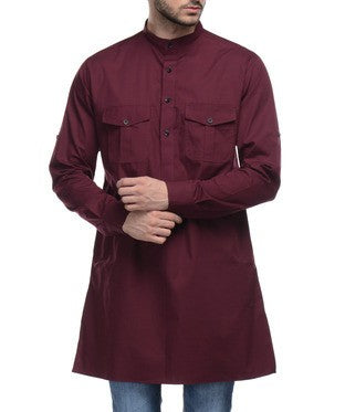 I KNOW Maroon Kurta