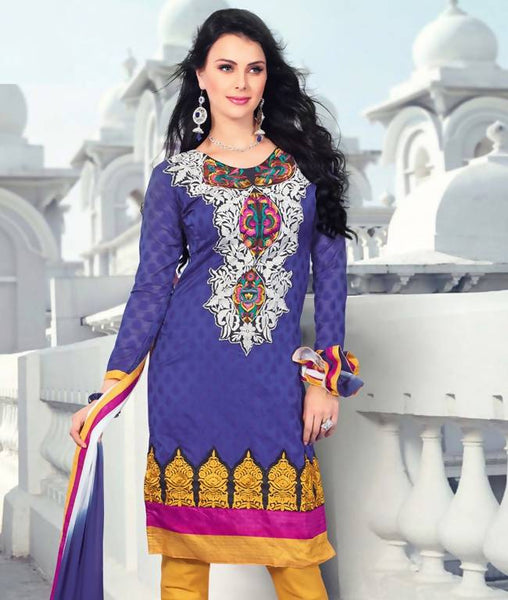 Unstitched suit with dupatta AW_100000422938