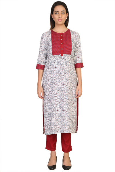 Vaniya Women Cotton Kurta Multicolor Printed Kurti $ VN-K106