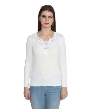 Lee Marc Women's Off White Top