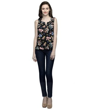 Oxolloxo Multicolor Sleeveless Floral Top