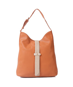 Fiona Trends Orange PU Shoulder Bag,6604_ORANGE