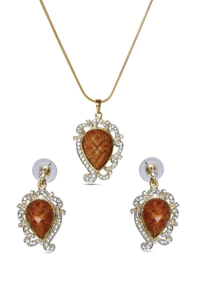 Framed Pear Pendant Set - JSENPES1501