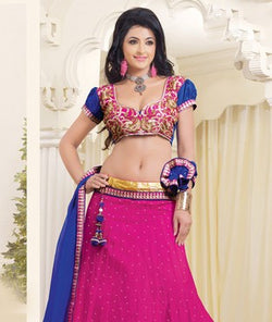 Net Lehenga with Choli and Dupatta