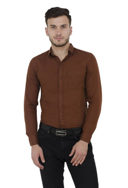 Baluchi Solid Regular Full Sleeve Linnen Bronze Formal Shirt $ BLC_MNSHIRT_03