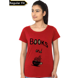 Partum Corde Premium Women's Modern Fit Round Neck T shirt BOOKS AND COFFEE $ BOOKS AND COFFEE4192