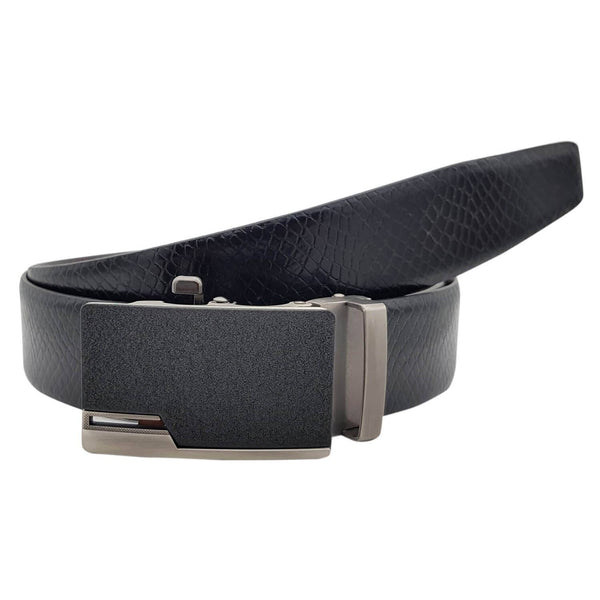 Baluchi's Snake Textured Formal Reversible Leather Belt with Auto lock Buckle $ BLC_LMAUTORV_03