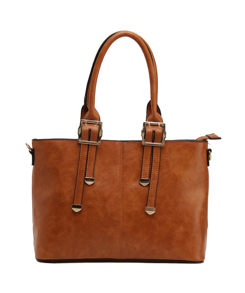 Fiona Trends Tan PU Shoulder Bag,100_TAN
