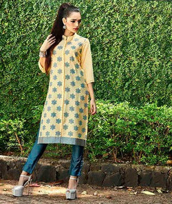 ADAA Light Yellow Kurta