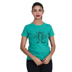 Second Half Green Top with Bee Print-SH0051