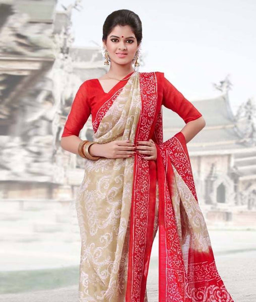 Saree with Unstitched Blouse AW_100000727119