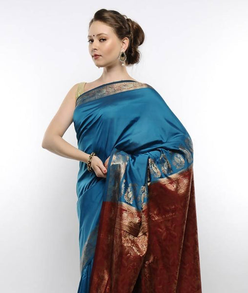 Saree With Unstitched Blouse AW_100000449504