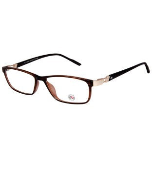 David Blake Brown Rectangular Full Rim EyeFrame
