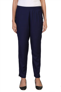 Vaniya Women Pant Cotton Rayon Blue Straight Pant $ VN-PT103