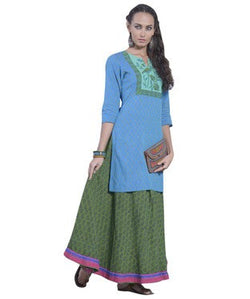 DESI THREADS Blue Kurti