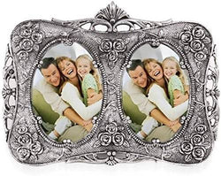 Silver Plated Photo Frame with Beautiful Velvet Box Packing $ GSI-142