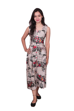 Libas Cotton Dress/Long Dress/Maxi Dress/One Piece Dress/Western Dress $ Libas-058