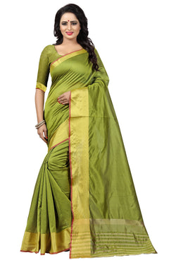 YOYO Fashion Latest Fancy Kota Dhupian Light Green Saree $ SARI2581 Light Green