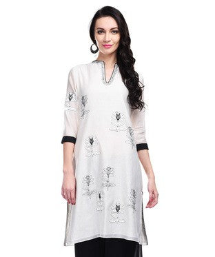AM PM Cream Kurti