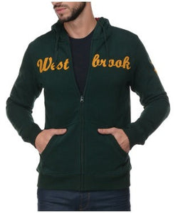 Westbrook Polo Club Green Hooded F/S Sweatshirt With Zipper