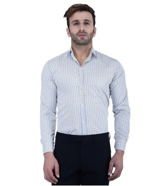 Lee Marc Men's Checkered Formal Shirt