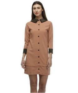 Glam a gal light brown tunic