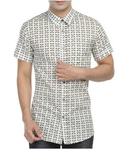 Versace Beige, Black And Offwhite S/S Shirt